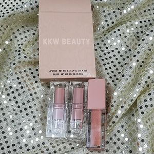New KKW Beauty lip stick and gloss trio